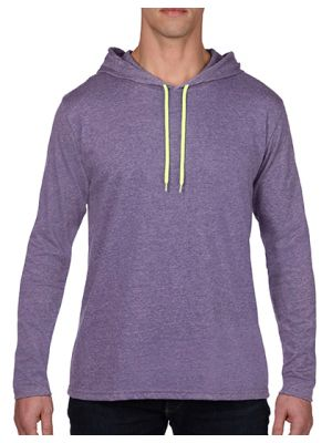 Fashion Basic Long Sleeve Hooded Tee