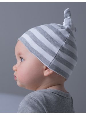 Baby Stripy One Knot Hat