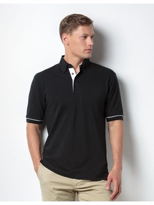 Button Down Collar Contrast Polo Shirt