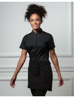 Women´s Bar Shirt Mandarin Collar Shortsleeve