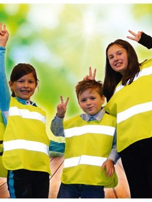 Kinder Warnschutzponcho EN 1150