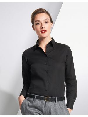 Ladies Long Sleeved Stretch Shirt Eden