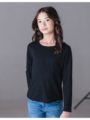 Girls Long Sleeve Tabbed T