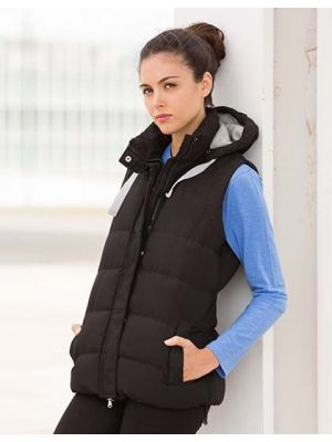 Ladies Padded Gilet with Detachable Hood
