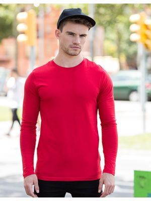 Mens Feel Good Long Sleeved Stretch T