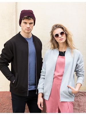 Unisex Bomber Zip-Through Sweat