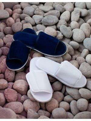 Open Toe Slipper With Top Fastening