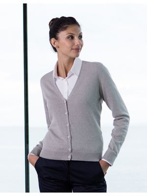 Ladies Lightweight V-Neck Short Cardigan