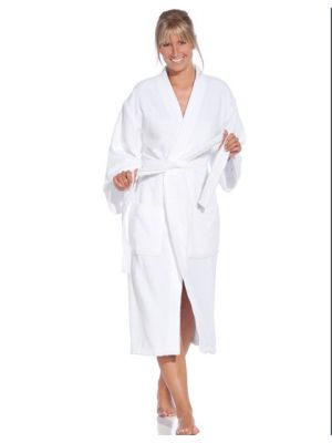 Bademantel Active mit Kimono-Kragen