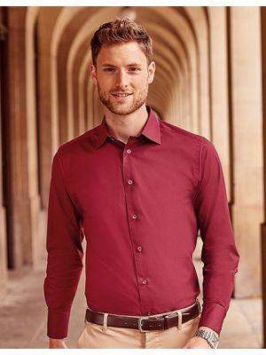 Langärmeliges körperbetontes Hemd