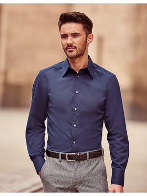 Körperbetontes langärmeliges Hemd aus Tencel®
