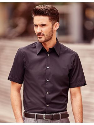 Körperbetontes kurzärmeliges Hemd aus Tencel®