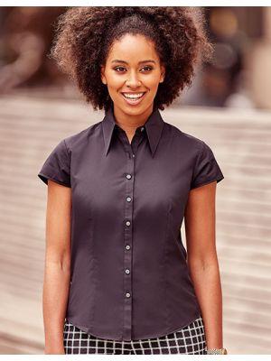 Körperbetonte kurzärmelige Bluse aus Tencel®