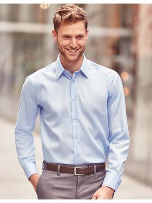 Bügelfreies tailliertes Hemd Langarm